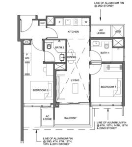 parc-clematis-2-bedroom-dual-key-floor-plan-2br-dk-1-singapore