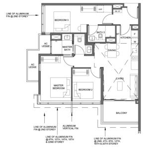 parc-clematis-3-bedroom-dual-key-floor-plan-3br-dk-1-singapore