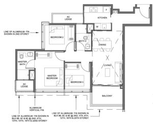 parc-clematis-3-bedroom-floor-plan-3br-3-singapore
