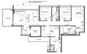parc-clematis-3-bedroom-premium-floor-plan-3br-p3-singapore